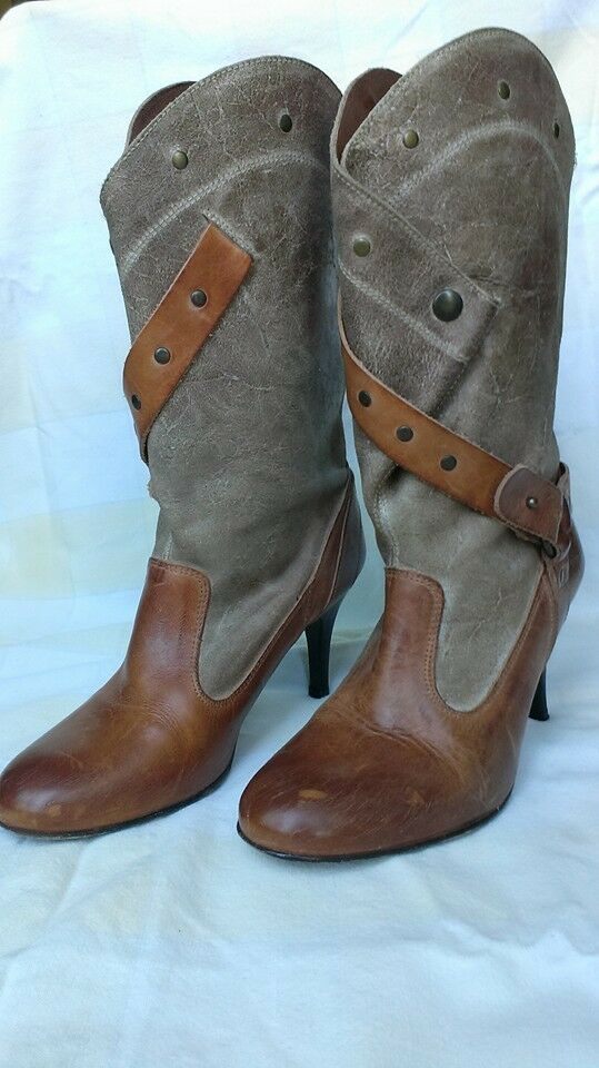 Diesel Style Lab Leather Boots, Size Please 8.5. Very good condition. Please Size see photos cb14eb