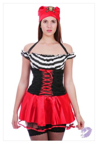 LADIES WOMENS BUCCANEER CARIBBEAN PIRATE COSTUME OUTFIT FANCY DRESS PARTY