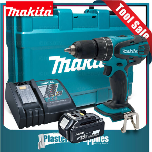 "Makita 18V Li-Ion ½"" Hammer Driver Drill LXPH01 + 4.0Ah Battery + Charger + Case"