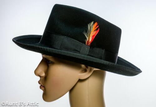 Fedora Hat 20/'s-30/'s Style Better Quality Men/'s US Made Black 100/% Wool Felt Hat