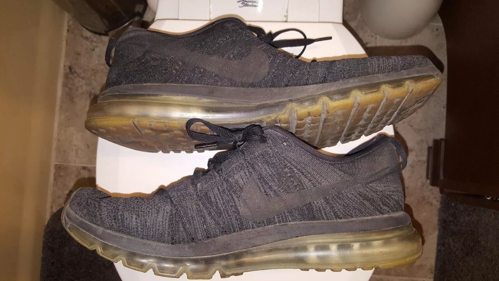 Nike Air Max Flyknit Oreo Oreo Oreo Charcoal Size 14 a93589