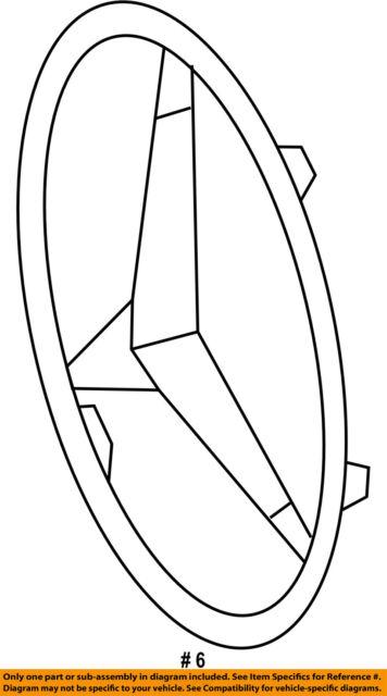 MERCEDES OEM 17-18 E400 Front Bumper Grille-Emblem Badge Nameplate 0008173200