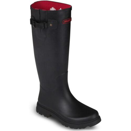 Musto Femmes Burghley Wellington Boots Wellies Dark Moss Noir mat NEUF