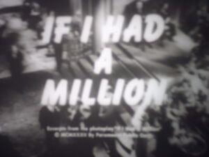 Details about 16mm If I Had a Million W C  Fields Castle Films Sound