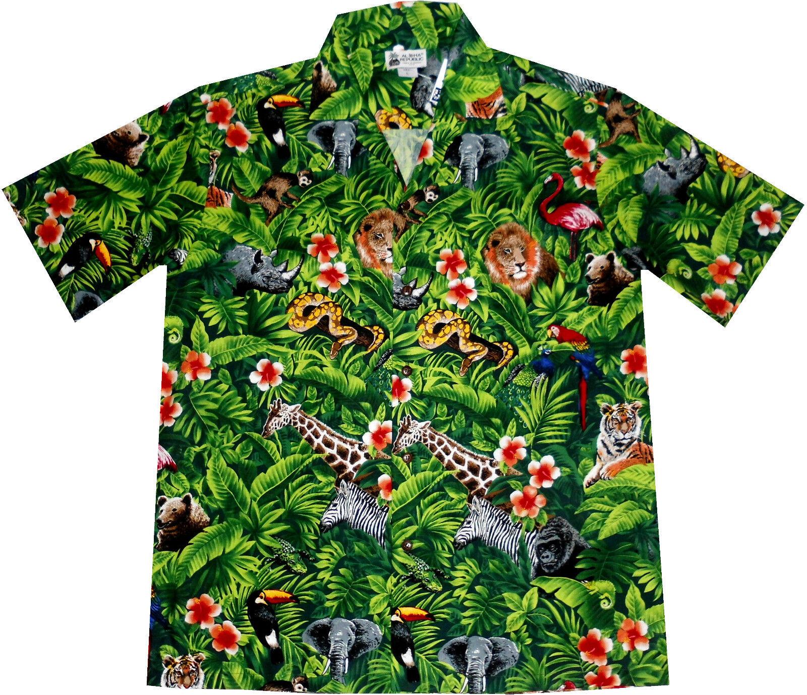 Camicia Hawaii Made in HAWAII M - 4xl 4xl 4xl 100% Cotone Camicia Hawaii Hawai verde 951924