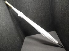 """Unbranded NEW White Large Golf Style Umbrella 51"""" Diameter with Wood Handle"""