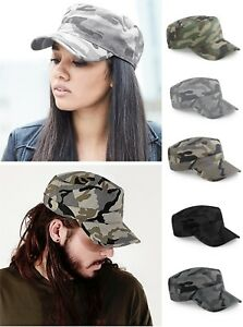 Image is loading Camouflage-Camo-Army-Cap-Urban-Hat-Military-Womens- 543f6afe3b