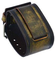 Nemesis IN-BZ 24mm Lug Width Wide Bronze Brown Leather Cuff Wrist Watch Band
