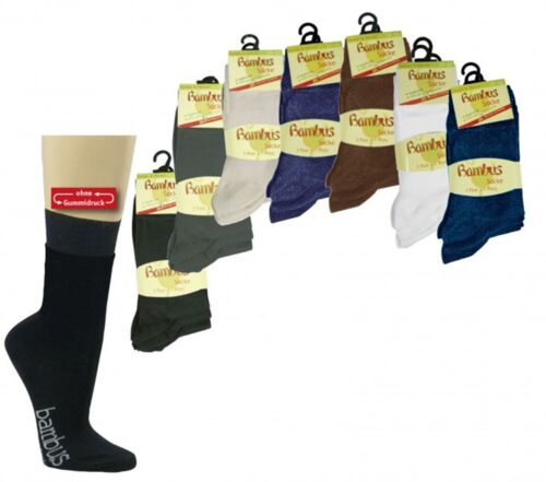 6 Paar Health socks Bamboo normal long for men and women 35//49 CH-170