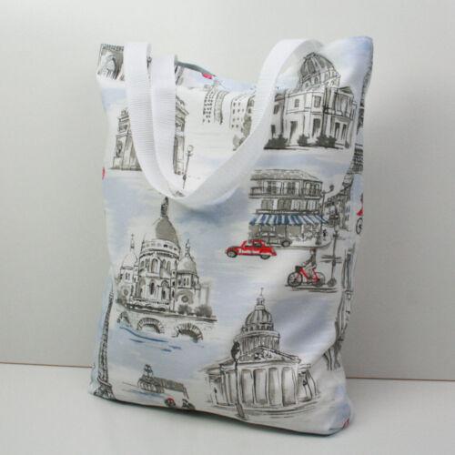 Paris Town Handmade Tote,Shopping Library,Nappy,Swim Bag