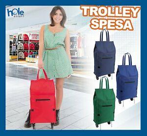 Carrello per la spesa borsa con ruote supermercato pieghevole trolley shopper