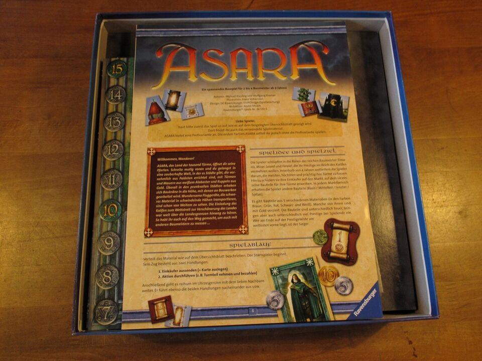 Asara. Der Land der 1000 Türme, byggespil, brætspil