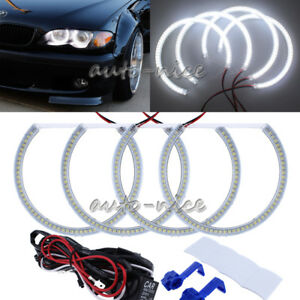 Details About For Bmw E39 E46 3 5 Series Xenon White Headlight Smd Led Angel Eyes Halo Rings