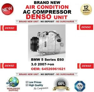 Denso-Aire-acondicionado-CA-Compresor-para-BMW-5-E60-3-0-2007-gt-En-Adelante-OEM