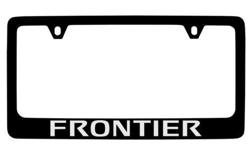 Nissan Frontier Black Metal license Plate Frame Holder