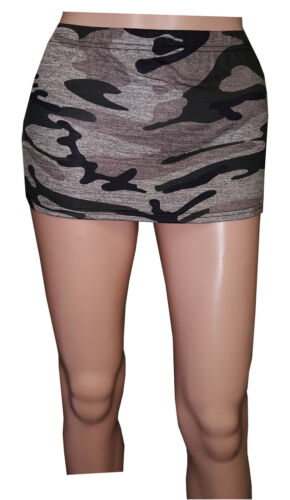 VERY HOT GIRLS,LADIES JUST 10 INCHES MILITARY PRINT MICRO MINI SKIRT SIZE 6 TO18