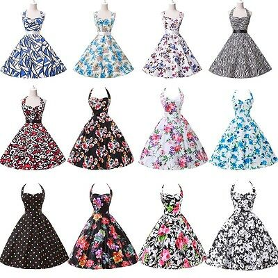 GK 1940's 1950' Vintage Swing 60's pinup Housewife Prom PARTY Dress