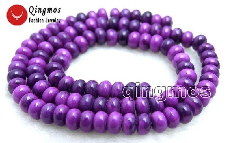 5*8mm Rondelle Cuentas Sueltas Sugilite púrpura para la fabricación de joyería hágalo usted mismo Strand 15