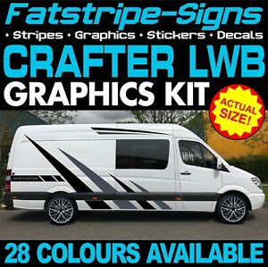 f2c0a815da Image is loading VW-CRAFTER-LWB-GRAPHICS-STICKERS-STRIPES-DECALS-CONVERSION-