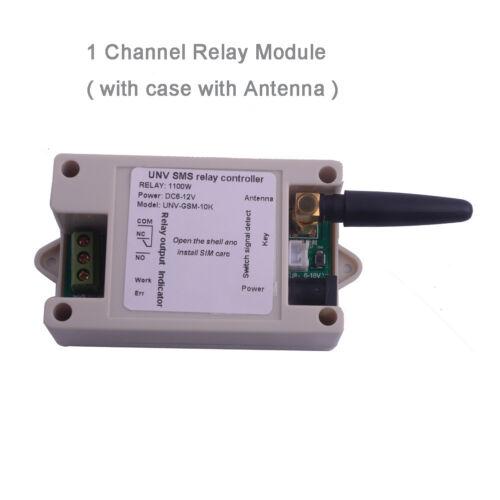 1 Channel Relay Module SIM800C 2G SMS GSM Remote Control Switch+Case+Screwdriver