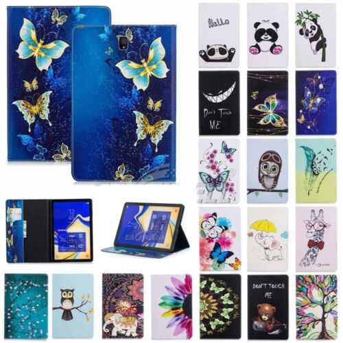 "AU For Samsung Galaxy Tab A S4 7"" 8"" 10.1"" 10.5"" Tablet Pattern Card Slot Case"
