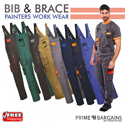 Portwest Texo Contrast Bib and Brace Painters Elasticated Coverall Overall TX12