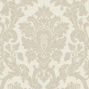 Neuf Grandeco Kensington Damas Creme Luxe Paillete Papier Peint Dore
