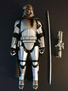 "Loose Star Wars Black Series 6"" Battle Damage Captain Phasma Quicksilver Baton"