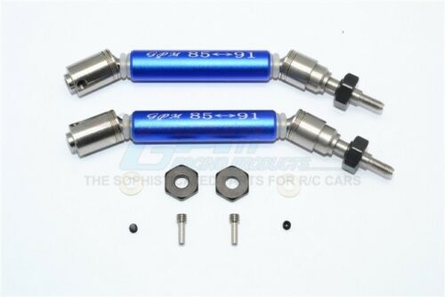GPM stainl st 304+alu front cvd drive shaft with steel wheel hex Traxxas Slash