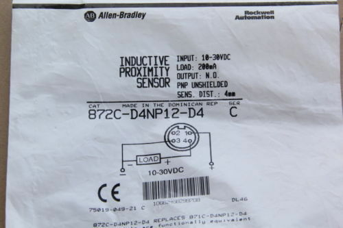 1PC New AB 872C-D4NP12-D4 M12 PNP NO