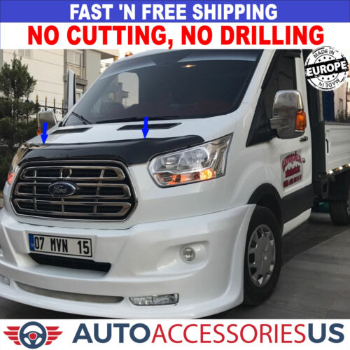 Front Bug Shield Hood Deflector Guard Bonnet Protector for FORD TRANSIT 2014-UP