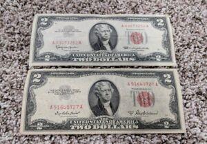 Image Is Loading Lot Of 2 Vintage Dollar Bill Jeferson