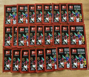 Topps-Championnat-Sticker-2020-2021-25-pochettes-250-Stickers-NEUF-amp-neuf-dans-sa-boite