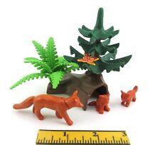 PLAYMOBIL~Farm~Animals~Tree~Log Den~Fox~Butterfly~Forest~Zoo~Park~Greenery