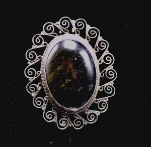 Sterling-Silver-Agate-Filigree-Taxco-Mexico-Taxco-Pendant