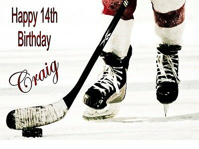 Personalised Ice Hockey Birthday Card