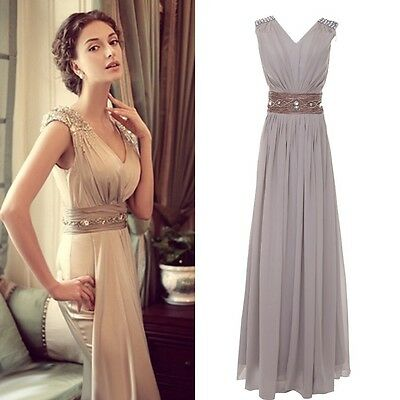 PLUS Long Cocktail Party Ball Gown Evening Prom Dress Bridesmaids Formal Dresses