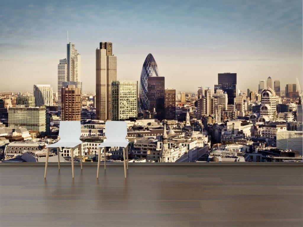 3D London Paysage 6 Photo Papier Peint en Autocollant Murale Plafond Chambre Art