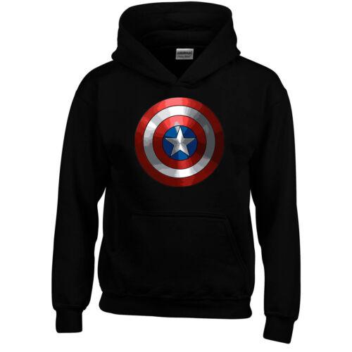 Superheroes Captain America Insipred Boys Girls Kids Mens Hoodie