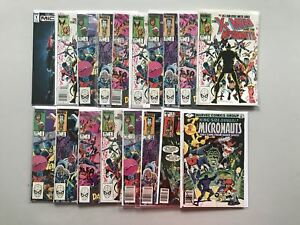 Lot-18-X-Men-and-the-Micronauts-1-4-w-duplicates-18-Annual-1-FN-VF-Very-Fine