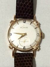 JAEGER LECOULTRE 14K SOLID GOLD VINTAGE GENTS 1958 SWISS MANUAL WATCH