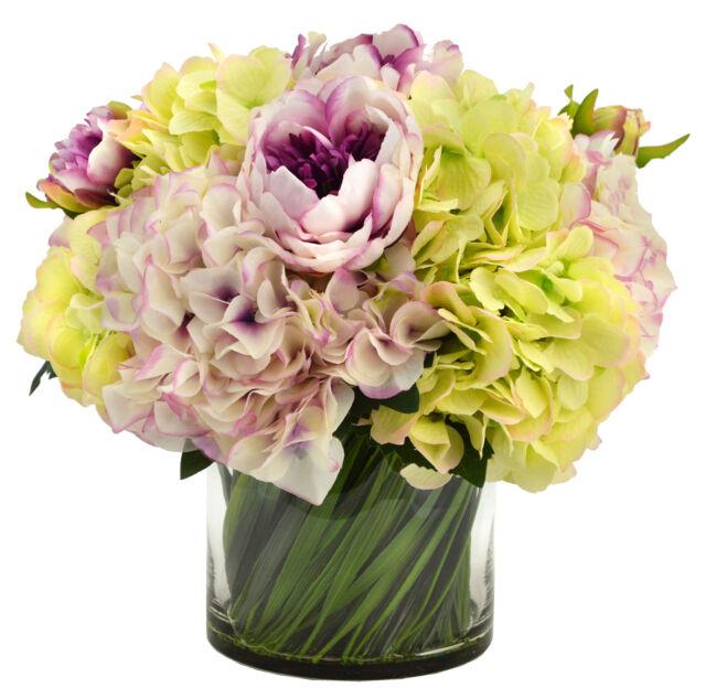 Flower Arrangements Hydrangea Peony Silk Flower Arrangement For Sale Online