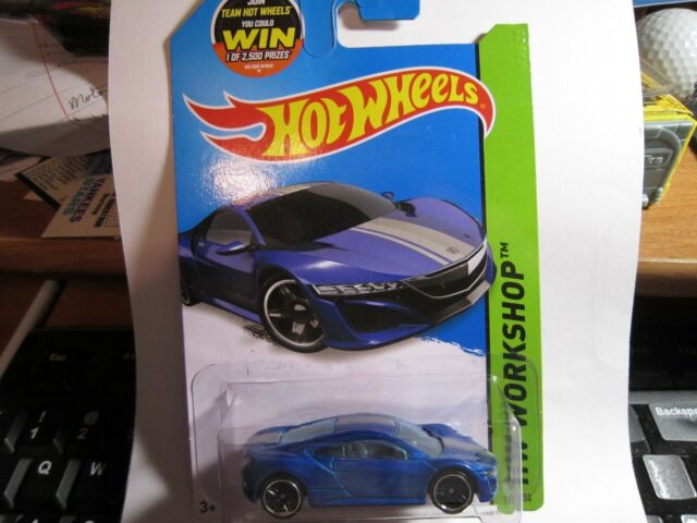 Hot Wheels 2012 Honda Acura Nsx Concept Workshop Speed Team 191 On