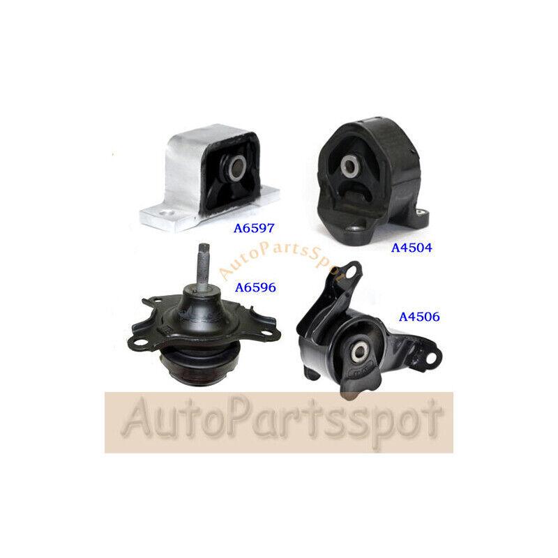 4pc Motor Mount Kit for 02-06 Honda CR-V 2.4L 4Cyl Engine Automatic Trans