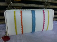 Brighton Painted Garden Large Zip Around Leather Wallet
