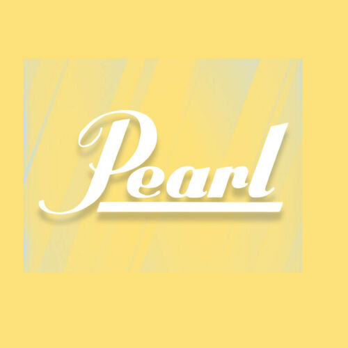 decal logo autocollant PEARL DRUMS pour grosse caisse
