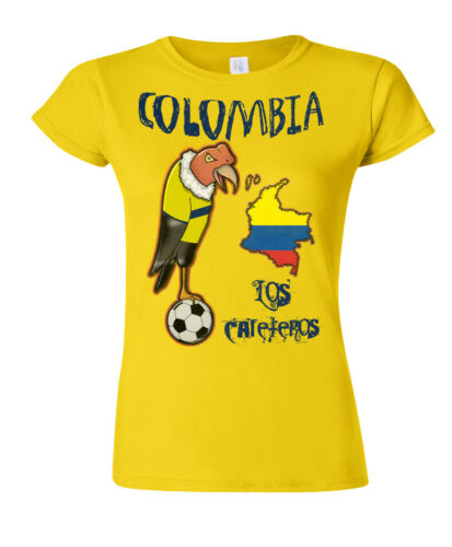Colombia World Cup 2018 Football Mascot T-Shirt Choice Of MENS LADIES KIDS