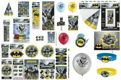 Batman Geburtstagsparty Range Geschirr Ballons /& Dekorationen Dc Helden