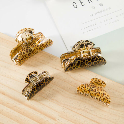 Fad Hair Clips Grab Leopard  Women Acrylic Butterfly Clips Hair Accessories