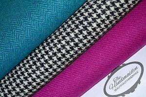 HARRIS-TWEED-FABRIC-BUNDLES-100-wool-craft-quilting-patchwork-tartan-upholstery